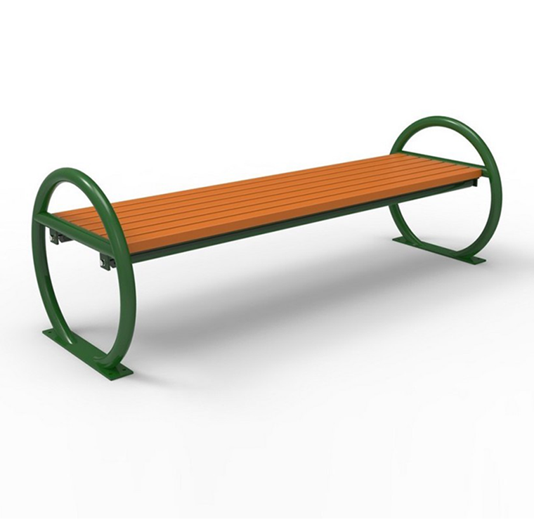 backless recycled plastic park bench cab 824 canaan