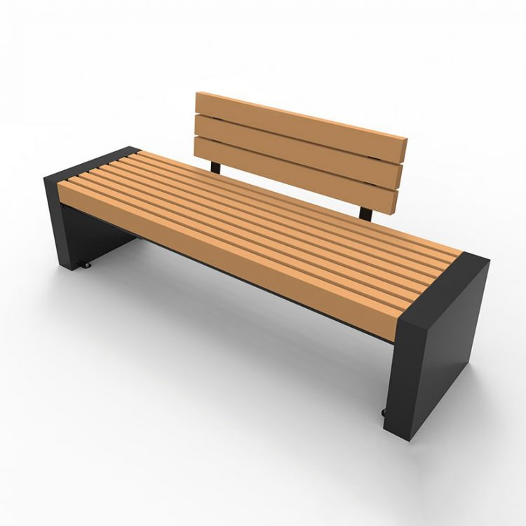 metal benches park benches wood composite commercial