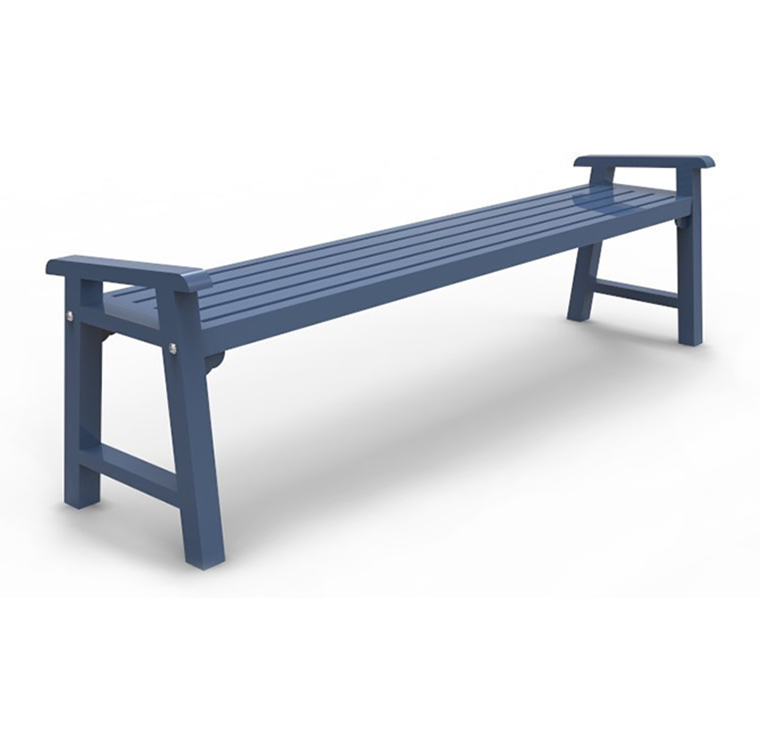 Backless Metal Bench Cal 703b Canaan