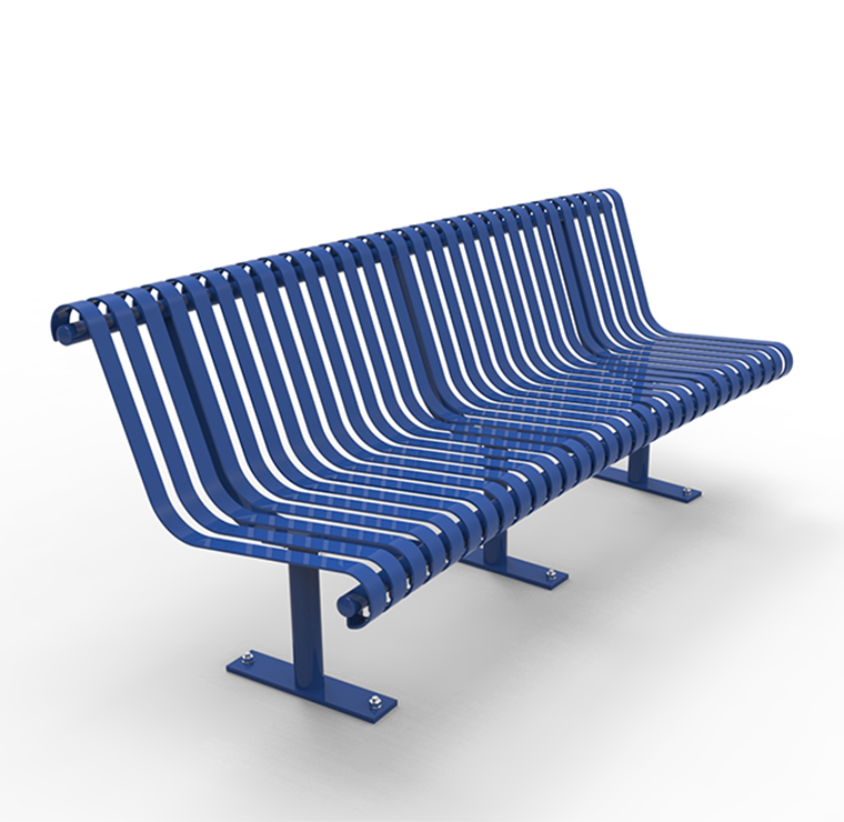 Curved Metal Park Bench Cal 800c Canaan