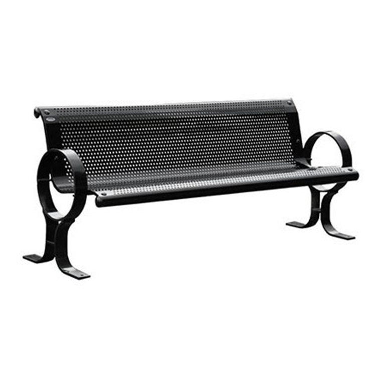 Perforated Commercial Metal Bench Cal 802 Canaan