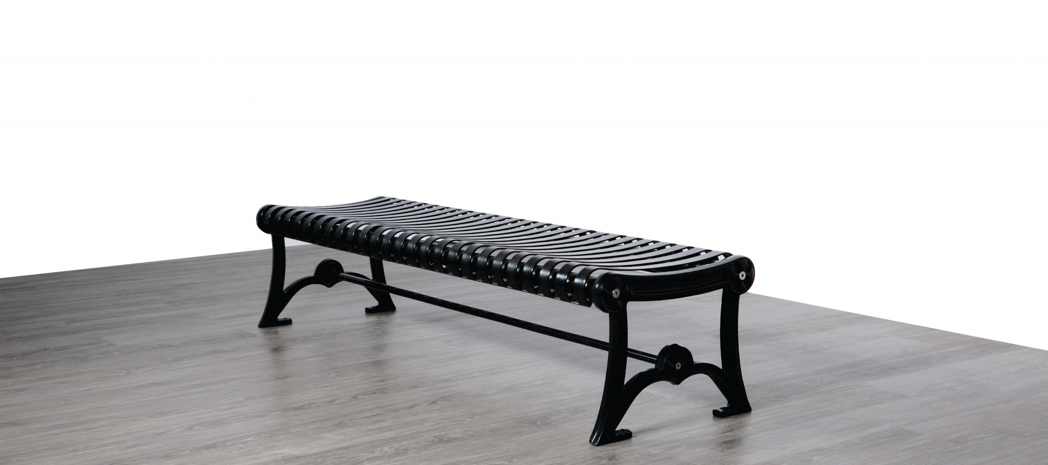 Metal Backless Park Bench Cal 957b Canaan