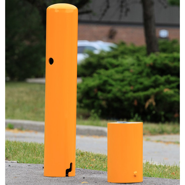 safety yellow posts bollards