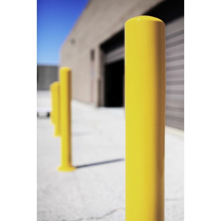 safety yellow bollards