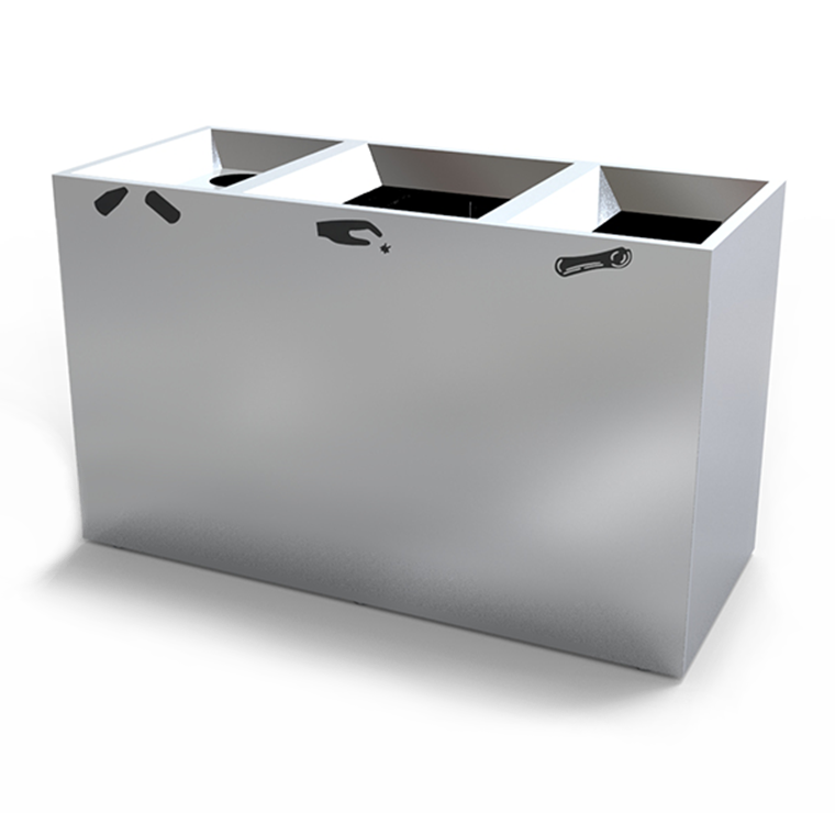 Whitey S Metal Recycling Home: Stainless Steel Recycling Bins CRC-792