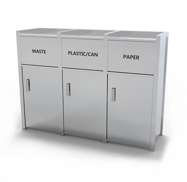 3 In 1 Waste Receptacle With Tray Return Crc 712 Canaan