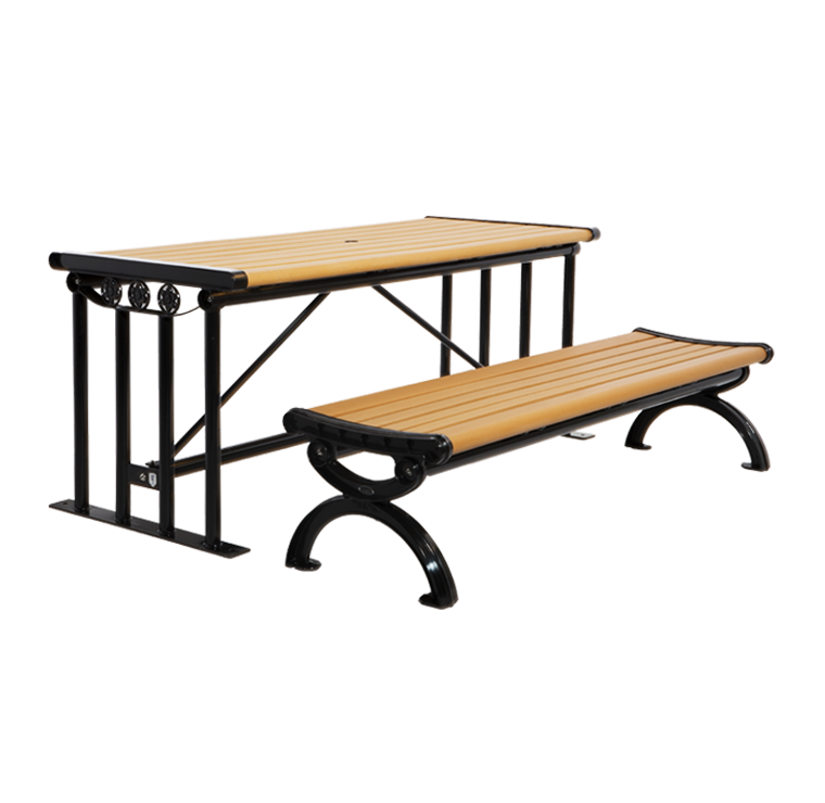 Long Picnic Table With Benches Cat 027 Canaan