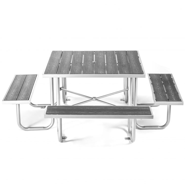 accessibility and ADA compliance grey picnic table