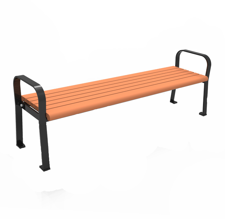 Backless Recycled Plastic Park Bench Cab 801b Canaan