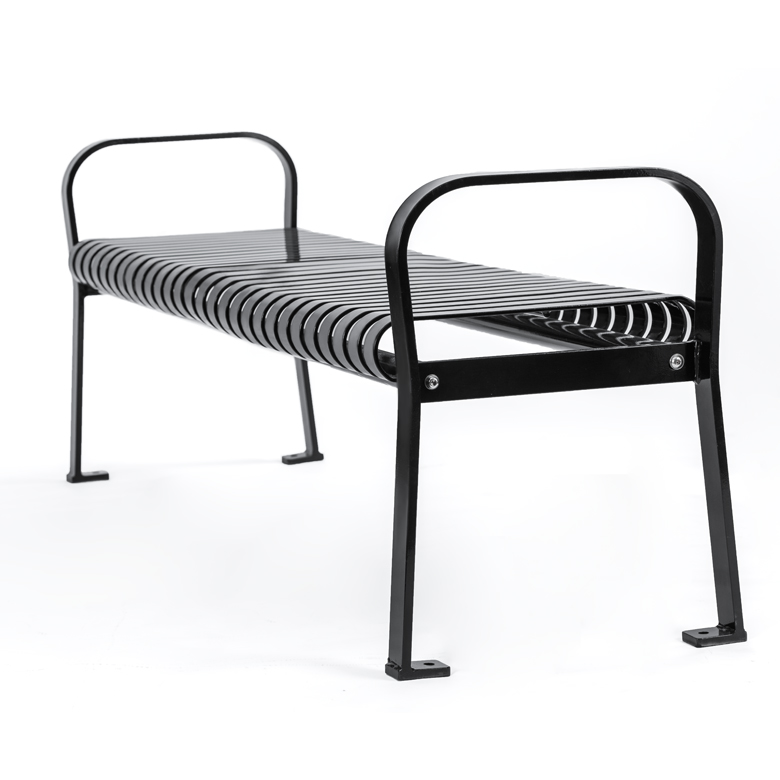 Backless Park Metal Bench Cal 701b Canaan