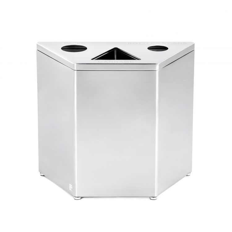 stainless teel recycling bin