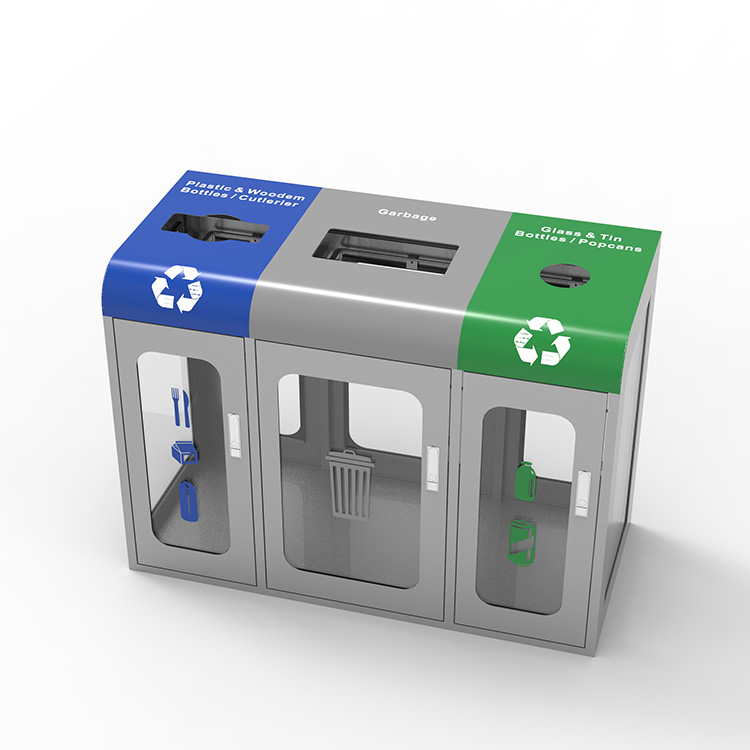 transparent recycling station