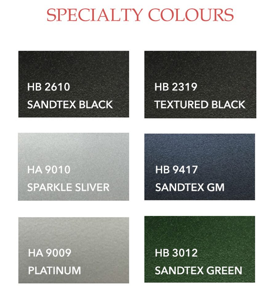 Specialty color options
